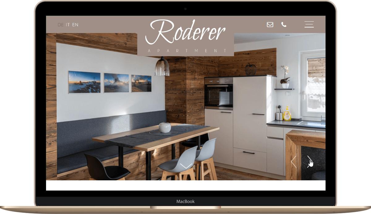 Webseite für Ferienwohnung in Südtirol - Völs am Schlern
