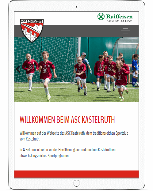 Webseite für Sportverein Kastelruth
