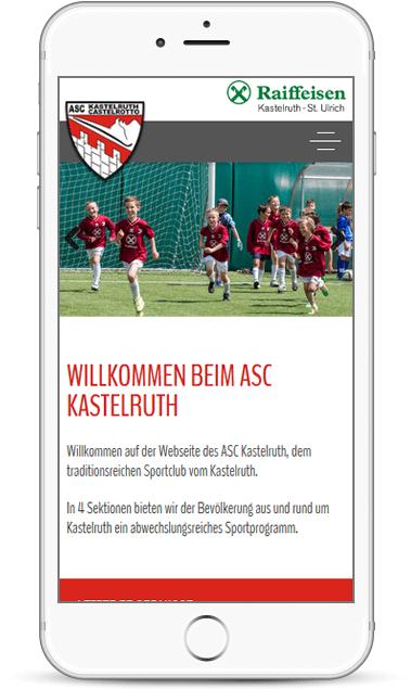 Webseite für Sportclub Kastelruth