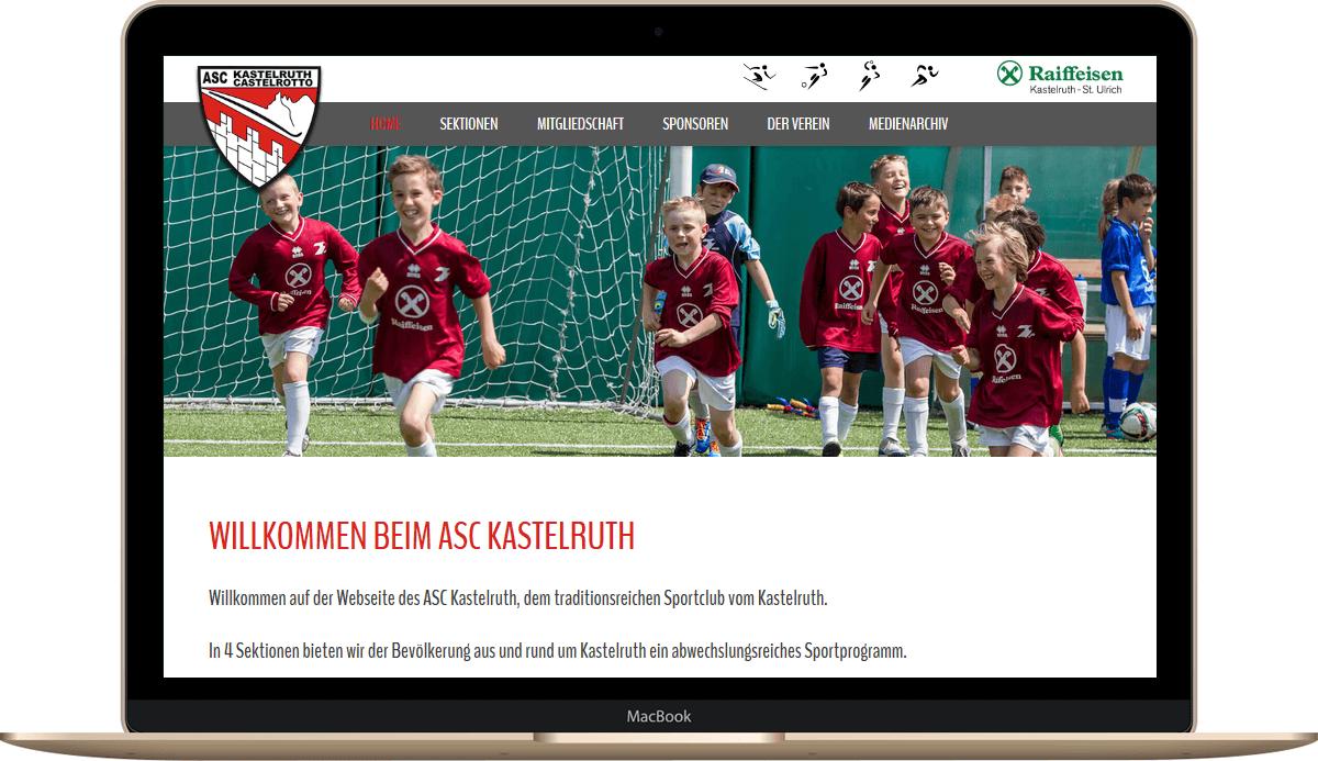 Internetseite für Sportclub Südtirol