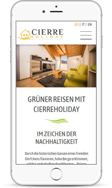 Responsive Webseite für Unternehmen in Südtirol