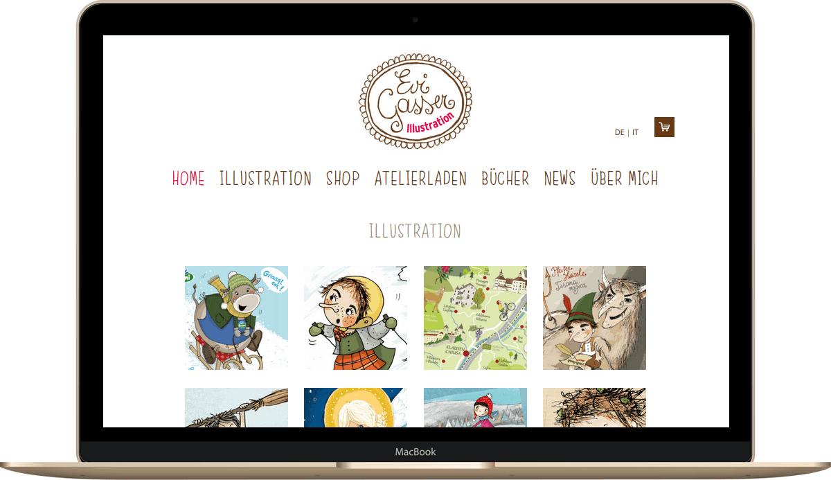 Webseite mit Online Shop von Webdesign Profanter