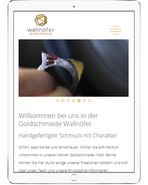 Webseite für Goldschmiede in Südtirol