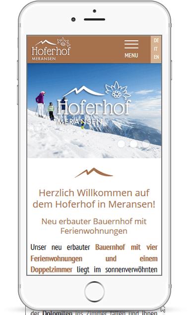 Webseite für Ferienwohnungen in Meransen Südtirol