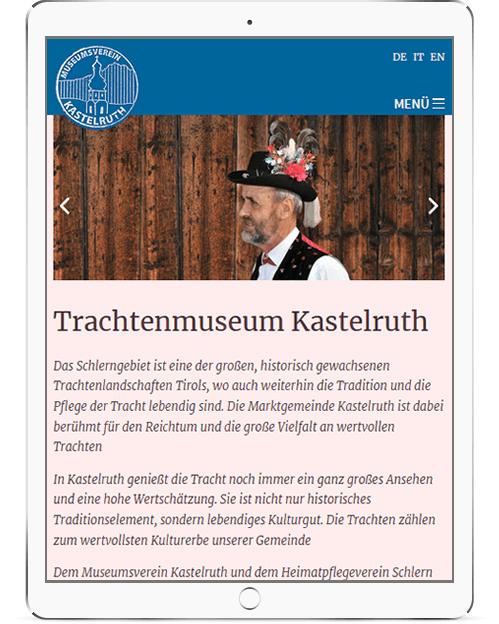 Webseite für Südtiroler Museum