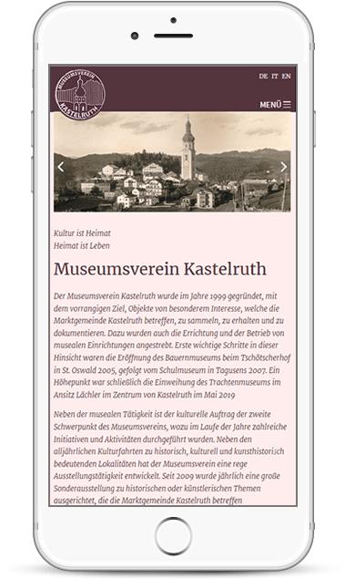 Webseite für Museumsverein